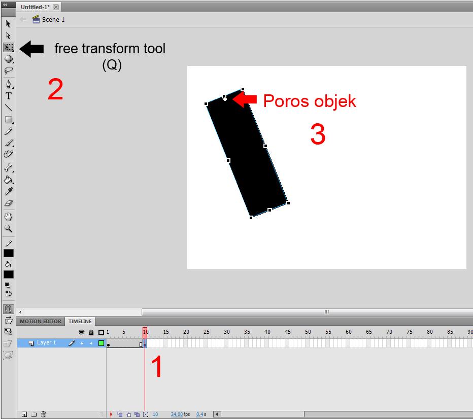Cara Membuat animasi sederhana dengan Flash CS5